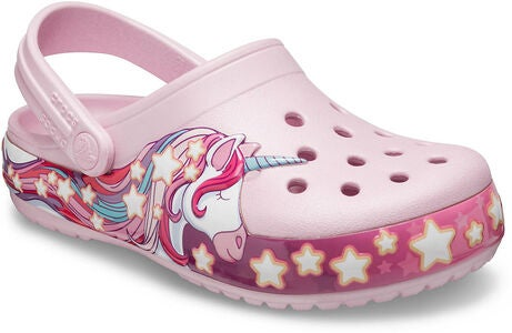Crocs Unicorn Fun Lab Lights Clog, Ballerina Pink
