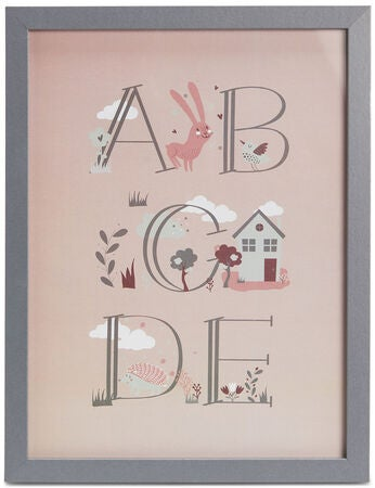 Alice & Fox Bilde Alfabetet, Pink