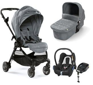 Baby Jogger City Tour Lux Duovogn, Slate + Maxi-Cosi Cabriofix Travelsystem