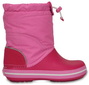 Crocs Kids Crocband LodgePoint Boot, Candy Pink/Party Pink