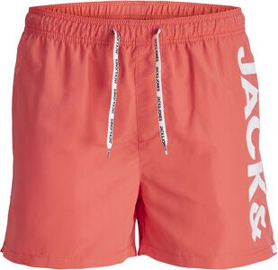 Jack & Jones Cali Badeshorts, Hot Coral