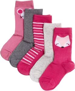 Pierre Robert Eco Basic Sokker 5-pack, Pink