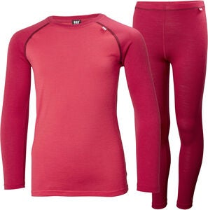 Helly Hansen JR Lifa Merino Mid Superundertøy, Persian Red