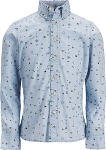 PRODUKT Space Aop Skjorte, Chambray Blue