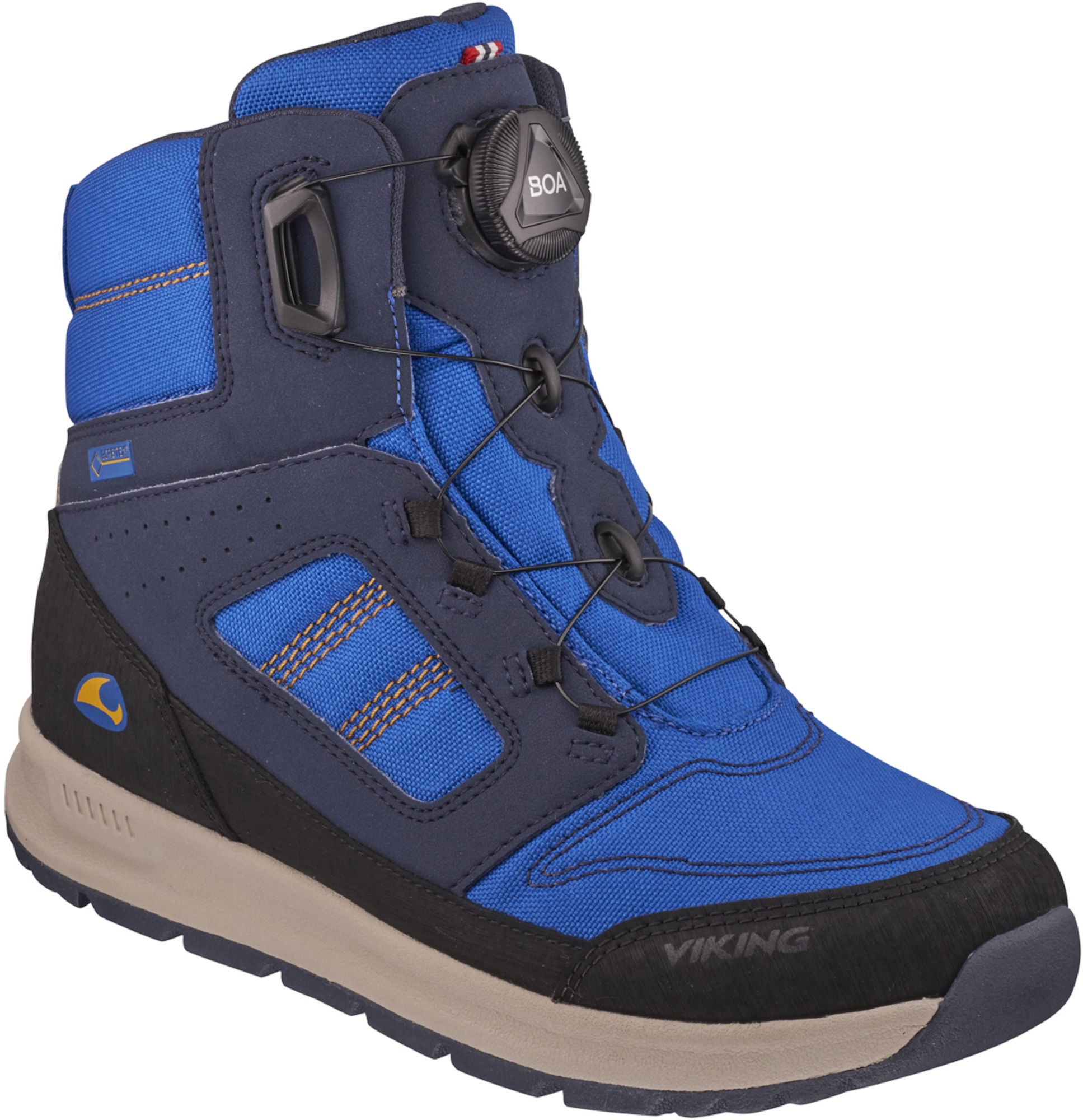 Viking Tryvann Boa GTX Vintersko, Navy/Orange 36