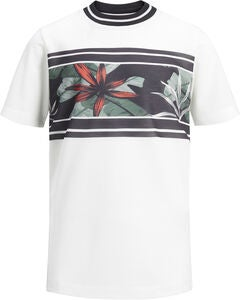 Jack & Jones Meshleaf T-Shirt, Cloud Dancer