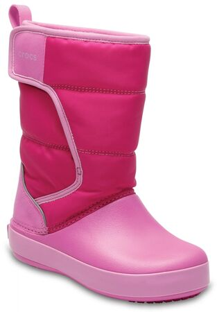 Crocs Kids LodgePoint Snow Boot, Candy Pink/Party Pink