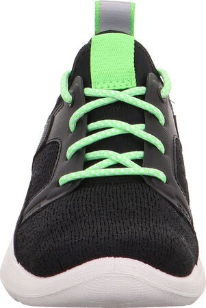 Superfit Thunder Sneaker, Black/Green
