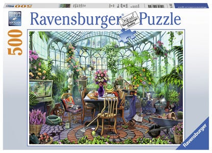 Ravensburger Puslespill Greenhouse Mornings 500 Brikker
