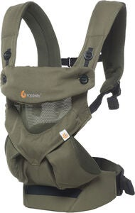 Ergobaby 360 Cool Air Mesh Bæresele, Khaki Green
