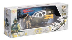 Soldier Force 9 Rapidfire Lekesett Helikopter