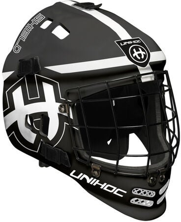 Unihoc Shield Målvaktsmaske, Black/White
