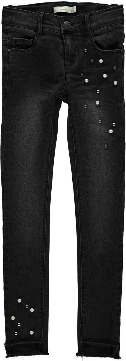 Name it Polly Belise Ancle Cut Jeans, Black Denim