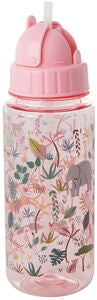 Rice Vannflaske Jungle Animals, Pink