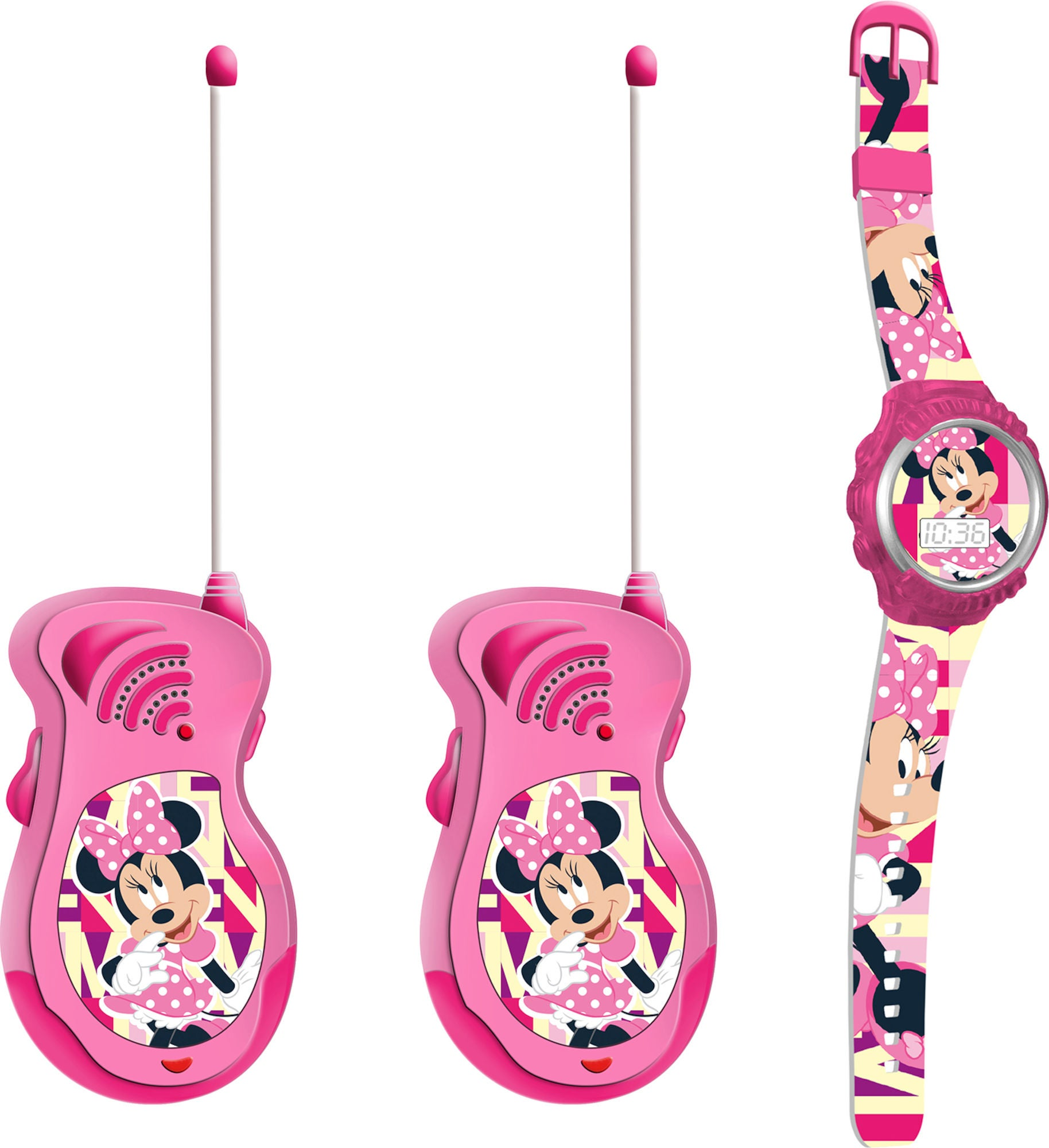 Disney Minni Mus Walkie-Talkies og Klokke