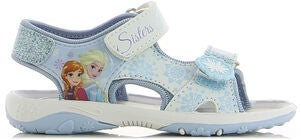 Disney Frozen Sandal, White/Blue