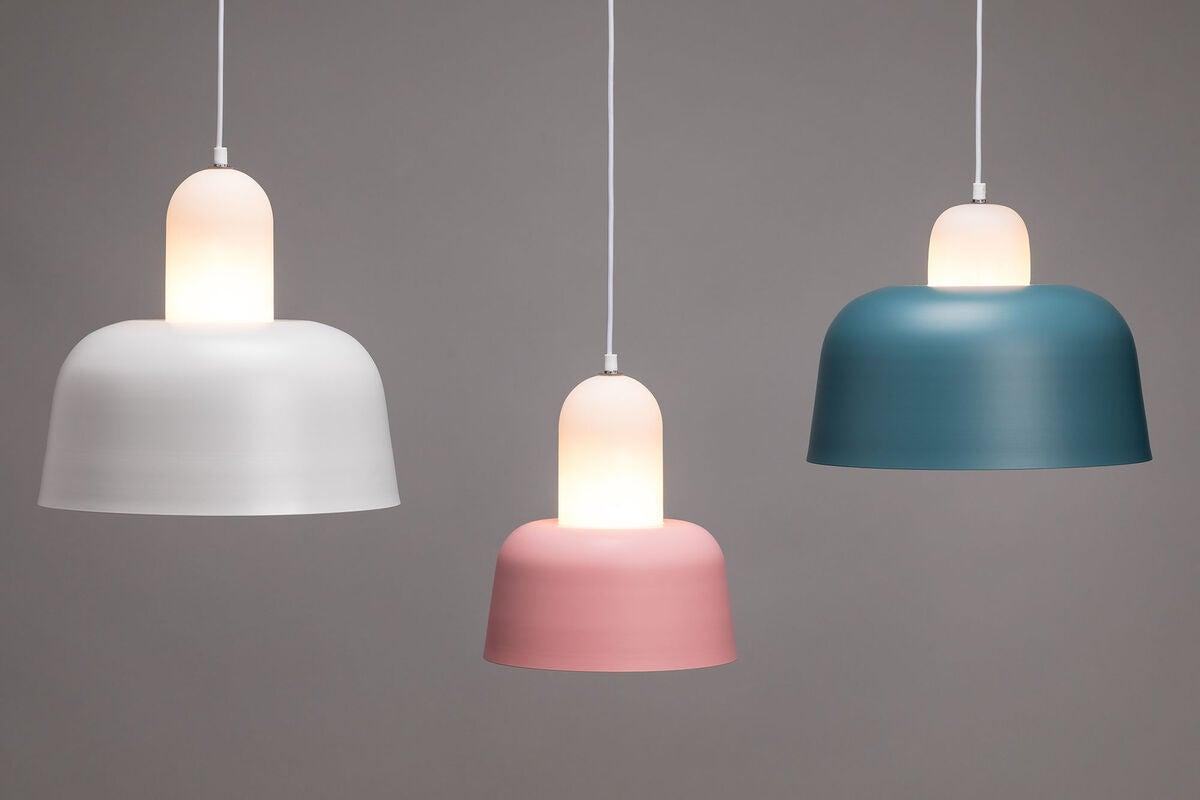 Sebra, stor lampe lys blå Barneklær og Interiør AS
