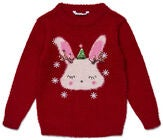 Luca & Lola Genser Winter Bunny, Red
