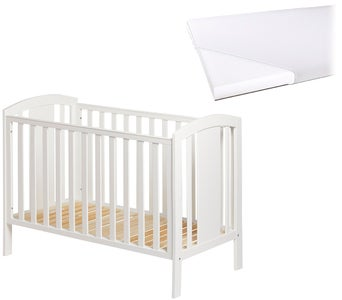 JLY Dream Lux Sprinkelseng med Babymatex Madrass 60x120, Hvit