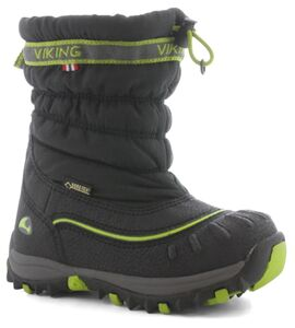 Viking Windchill GTX Vintersko, Black/Lime