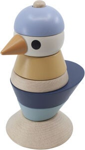 Sebra Stacking Bird Aktivitetsleke Tre, Denim Blue