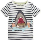 Tom Joule Applique T-Shirt, Blue Stripe Armband Shark