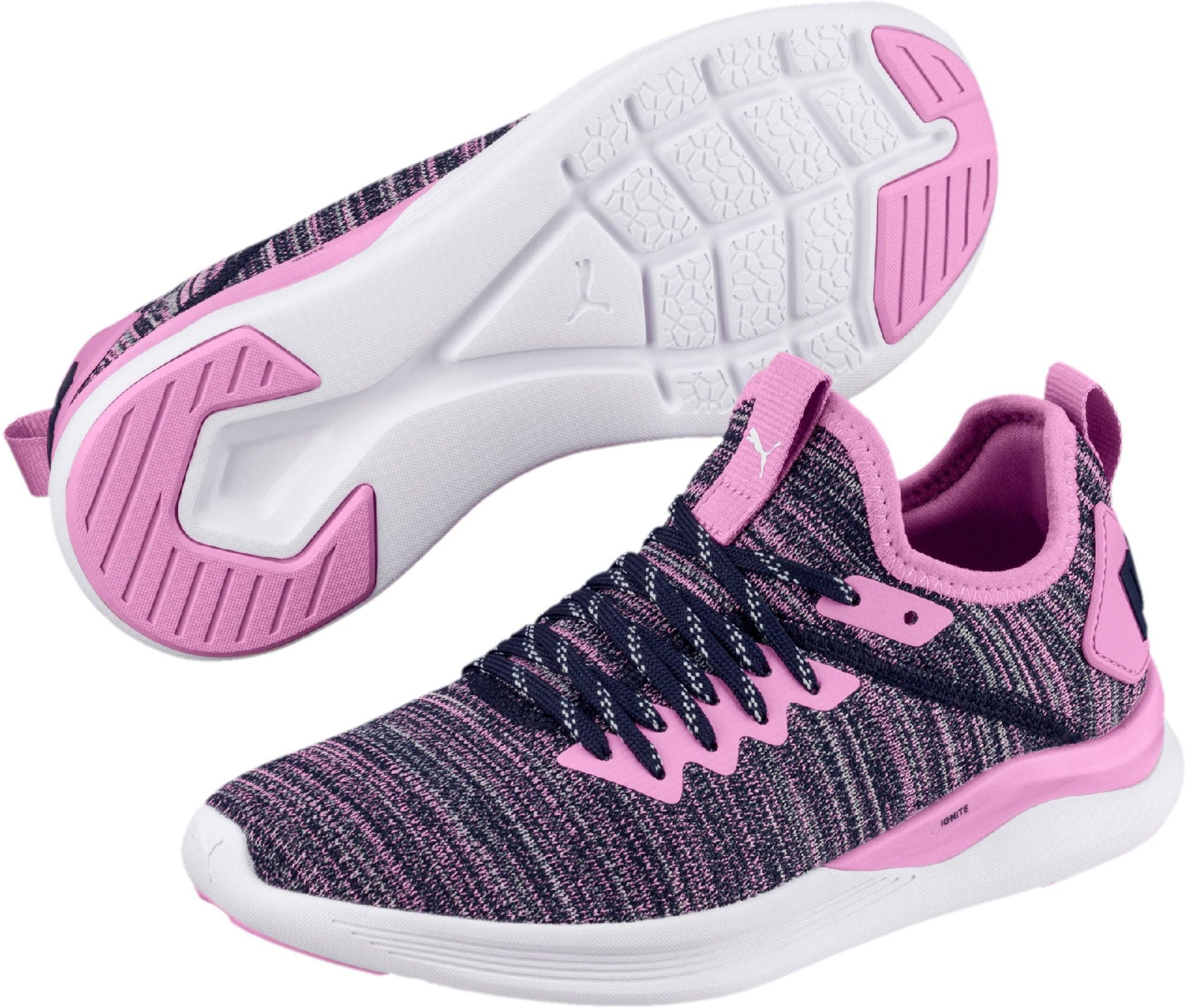Kjøp Puma Ignite Evoknit Sneaker, Pink   Jollyroom