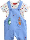 Tom Joule Bukse & Body, Blue Dino Star Dungaree