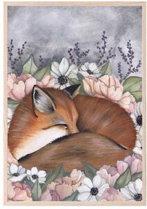 That's Mine Poster Flower Field Fox 30x40