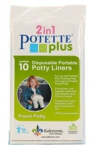 Potette Plus Absorberende Engangsposer, 10-pack