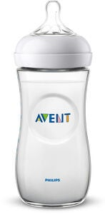 Philips Avent Natural Tåteflaske 330ml inkl. Fast Flow Flaskesmokk