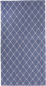 Alice & Fox Gulvteppe Square Dots 150x200, Dusty Dark Blue