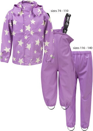 1418be47 Kjøp Ticket to Heaven Rubber Regntøy, Violet Stars   Jollyroom