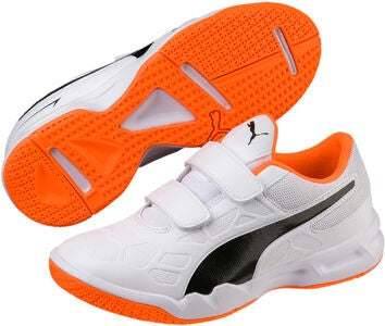 Puma Tenaz V Fotballsko JR, White/Orange