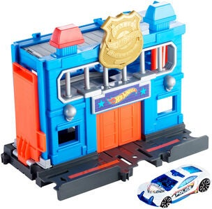 Hot Wheels City Downtown Lekesett Police Station Breakout