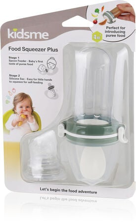 Kidsme Food Squeezer med skje, Grey