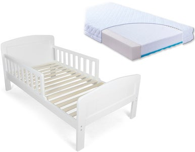 JLY Dream Juniorseng med BabyMatex Carpathia Madrass 70x140, Hvit