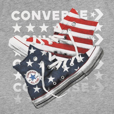 Converse Americana Shoes T-Shirt, Dark Grey Heather