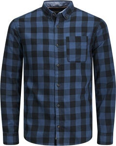 PRODUKT Graham Check Skjorte, Blue Wing Teal