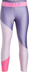 Under Armour HG Color Block Ankle Crop Leggings, Purple Ace
