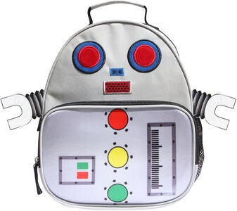 KID Zoo Robot Ryggsekk, White