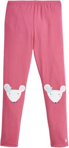 Tom Joule Leggings, Pink Mouse