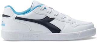 Diadora Playground GS Sneaker, White/Blue Denim
