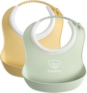 BabyBjörn Smekke Liten 2-pack, Powder Yellow/Powder Green