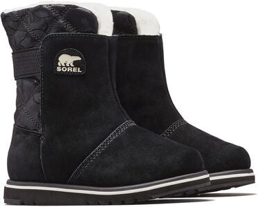Sorel Children's Rylee Vintersko, Black/Light Bisque