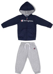 Champion Kids Hooded Genser og Buksesett, Black Iris