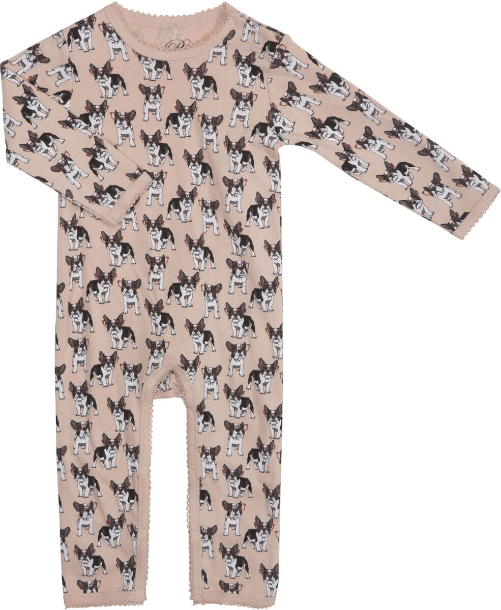 Petit Cloth Jumpsuit, French Bulldog