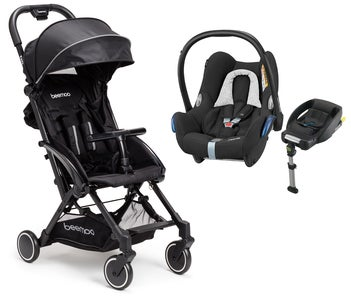 Beemoo Easy Fly Trille og Maxi Cosi Cabriofix med base, Black