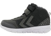 Hummel Crosslite Winter Mid Tex Jr Sneaker, Asphalt/Black