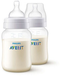Philips Avent Anti-Kolikk Tåteflaske 2-pack 260ml, Hvit